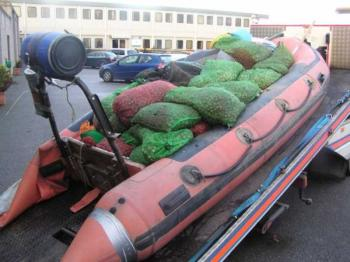 Cockles and boat caught in the operation