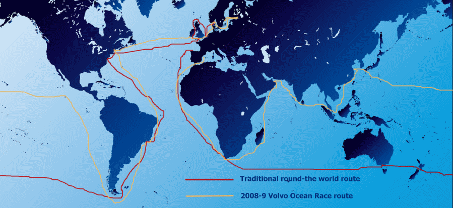 the world map round. of a round the world race,