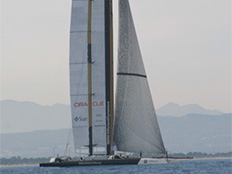 33rd Americas cup BMW Oracle training off Valencia